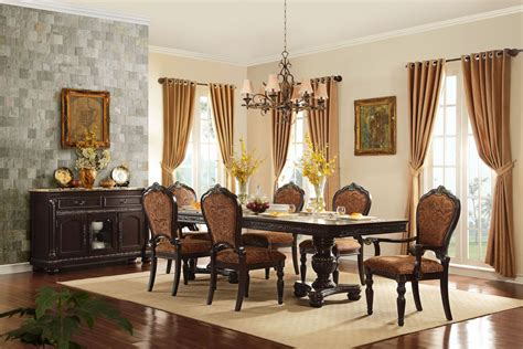 Russian Hill Upholstery by Russian Hill Warm Cherry Extendable Dining Room Set From