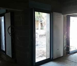 Habillage placo sur porte fenetre a galandage for Porte fenetre galandage