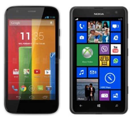 moto g versus nokia lumia 625 hexamob