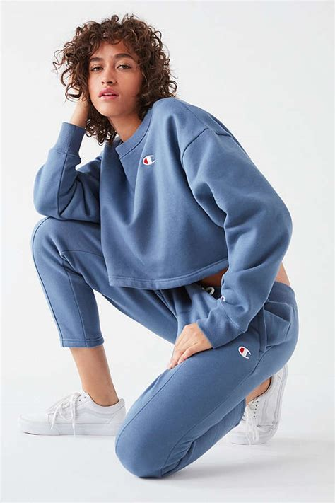 Champion x Urban Outfitters Cropped Sweatshirt Set Now