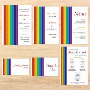 rainbow themed wedding invitations | Wedding Ideas