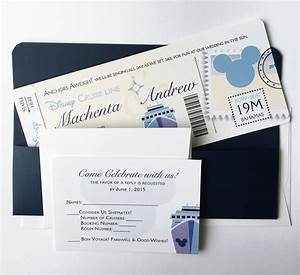 disney wedding invitation set boarding pass wedding With disney passport wedding invitations
