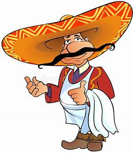 Mexican Chef With Thumb Up. Stock Illustration ...