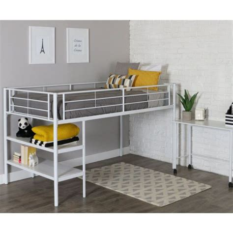metal bunk bed with desk white metal bunk beds with desk for children