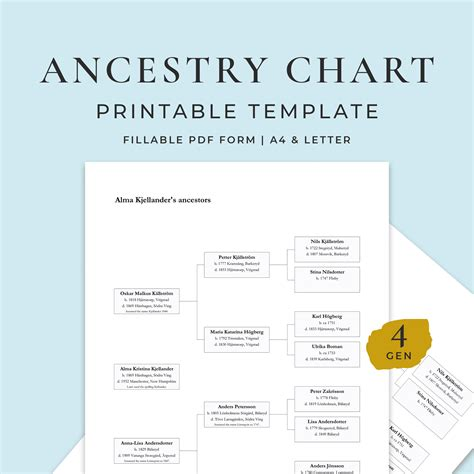 Lineage is especially important when talking about inheritance and rights to the property. 6 Generations Family Tree, Fillable PDF Template - Find a Swede - Swedish Genealogy