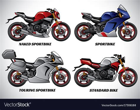 Types Of Motorcycle Part 1 Royalty Free Vector Image