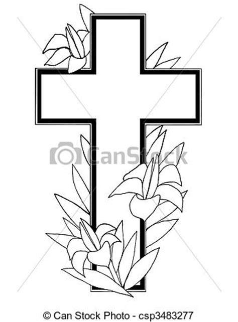 easter cross clipart black and white easter cross black and white clipart
