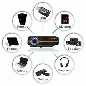 Deeplee Dp400 Mini Projector 1000 Lumen Led Lcd Home
