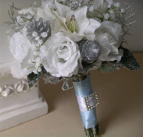 Silver And Gray Wedding Bouquets Wedding Silk Wedding