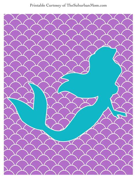 mermaid template the mermaid poster labels free printable thesuburbanmom