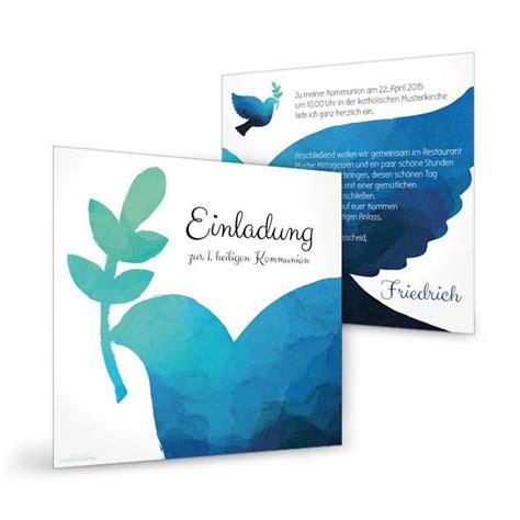 moderne einladung kommunion oder konfirmation mit