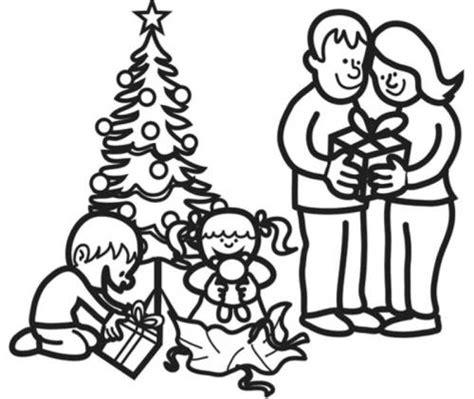 kostenlose malvorlage weihnachten weihnachtsbescherung