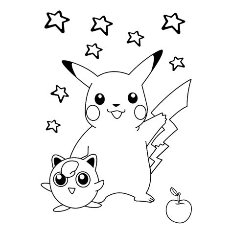 Kleurplaat Pikatcu by Leuk Voor Pikachu Jigglypuff