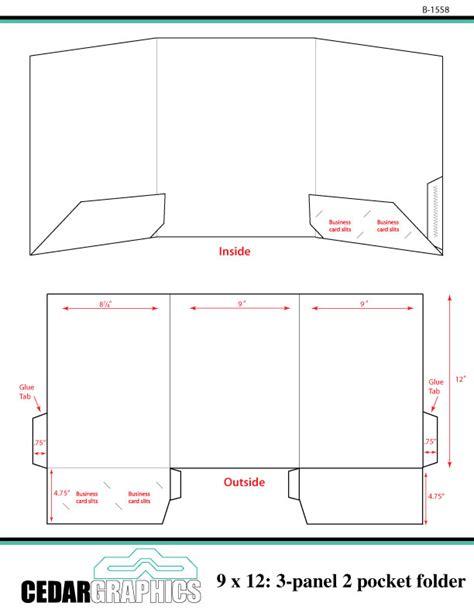 How To Plan A 9 X 12 Threepanel, Twopocket Folder