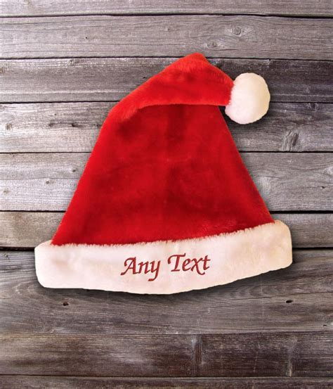 Personalised Plush Santa Hat   WithCongratulations