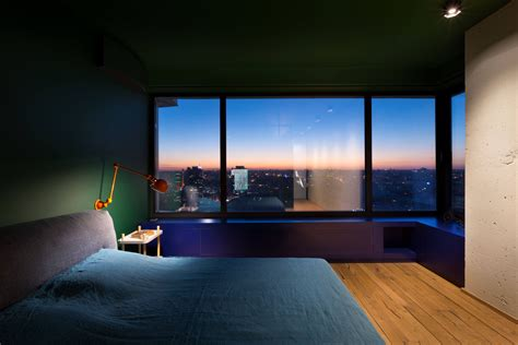 green kiev apartment  calm   city nonagonstyle