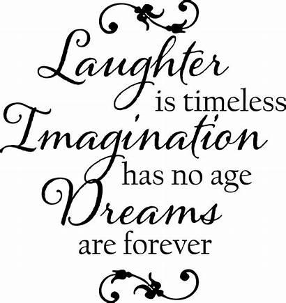 Laughter Imagination Dreams Wall Quotes Decals Medicine