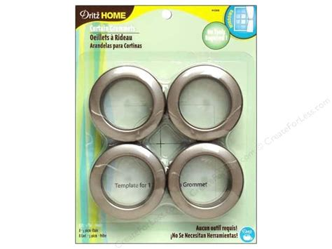 Dritz Curtain Grommets Pewter dritz home curtain grommets 1 9 16 in pewter 8pc