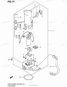 Suzuki Motorcycle 2001 Oem Parts Diagram For Fuel Pump
