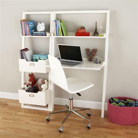 kids desk kids white leaning wall desk  land  nod