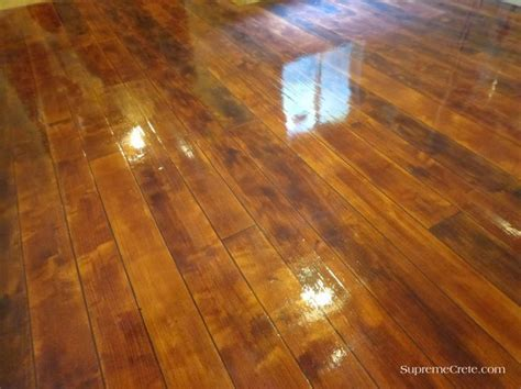 Elkhart Indiana Wood Concrete Floor   Rustic Concrete Wood