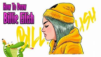 Billie Eilish Draw Step Tutorial