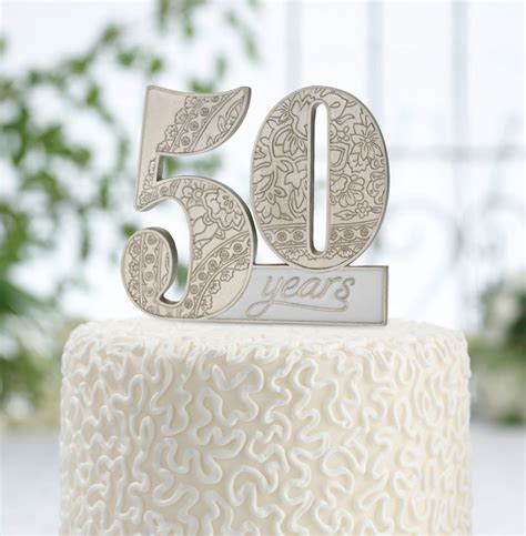silver   golden wedding anniversary cake