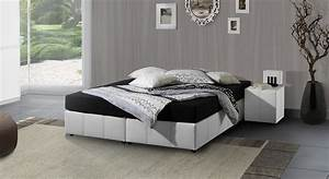 Poco Betten 140x200 : boxspringbett ohne r ckenlehne in schwarz weiss athen ~ Markanthonyermac.com Haus und Dekorationen