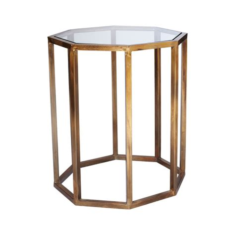 octagon side table small oka