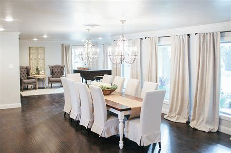 white farmhouse dining table dining room