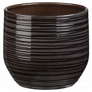Cache Pot Noir : cache pot en c ramique 820 5 po noir gris rona ~ Teatrodelosmanantiales.com Idées de Décoration