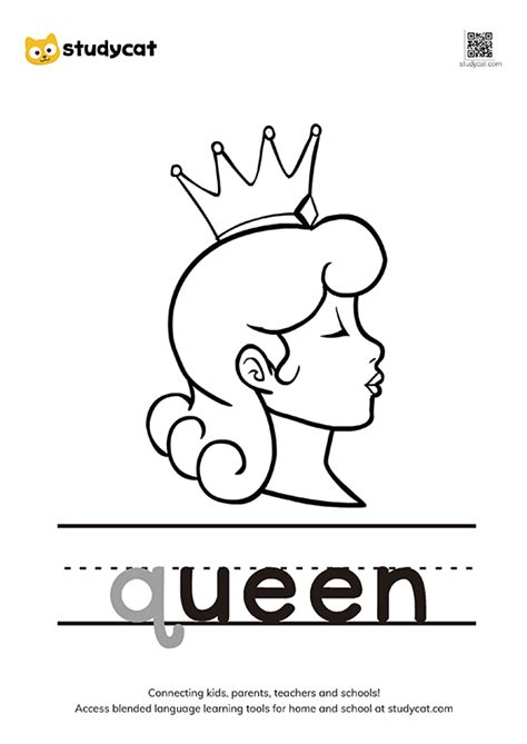 letter qq colouring worksheets printable english