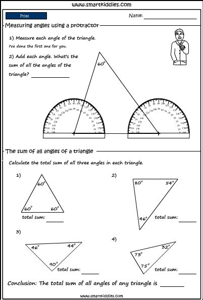 protractor  measure angles  shapes