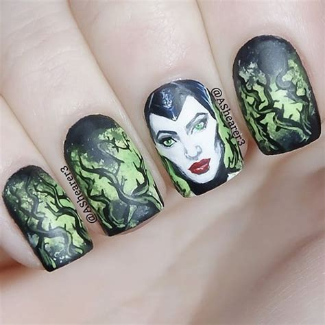 nail art inspired  disneys maleficent disney