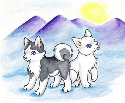 Wolf Wallpaper Kawaii by Sno And Muk In The Arctic By Wildspiritwolf On Deviantart