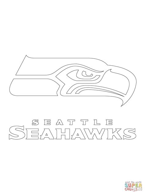 seattle seahawks logo super coloring seattle seahawks