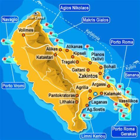 zante map greece zakyn