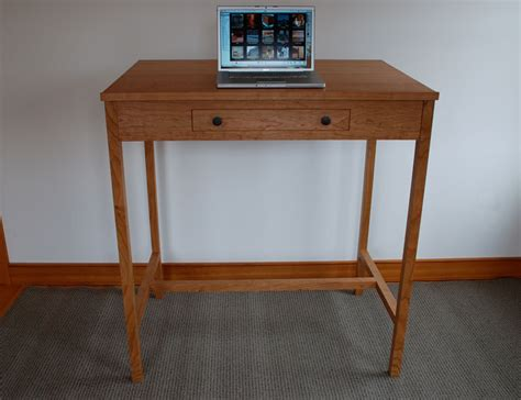 wood stand up desk custom wood stand up desks made in vermont