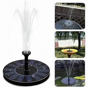 Fontaine Solaire Pour Bassin : fontaine solaire ubegood pompe eau solaire 7v 1 4w ~ Dailycaller-alerts.com Idées de Décoration