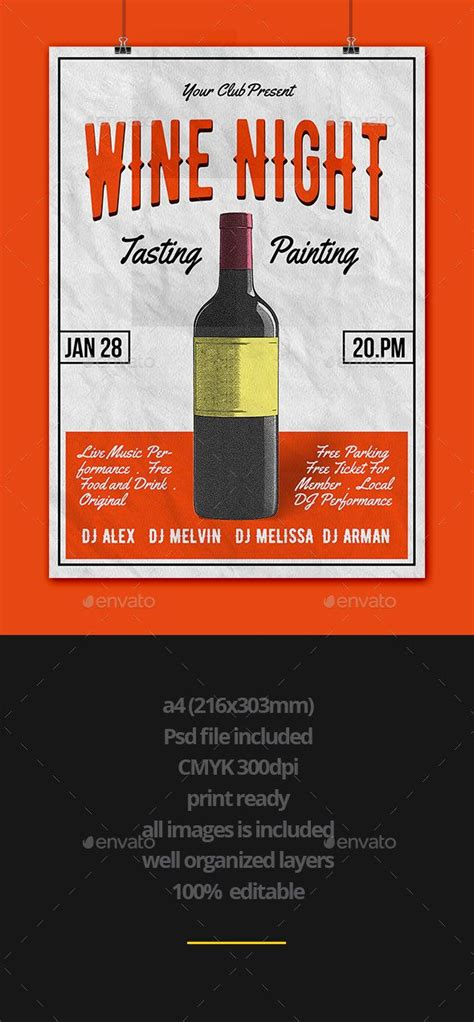 flyer graphicriver wine