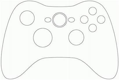 Controller Card Xbox Coloring Template Birthday Mando