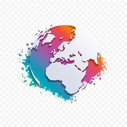 Abstract Map Transparent Earth Clipart Globe Graphic