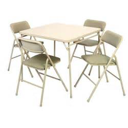 cosco 174 5 piece 34in card table and chairs set 14 551 whd