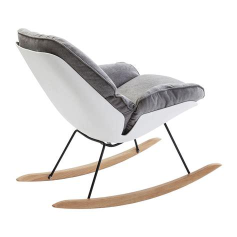 fauteuil à bascule scandinave gris alicante kare design