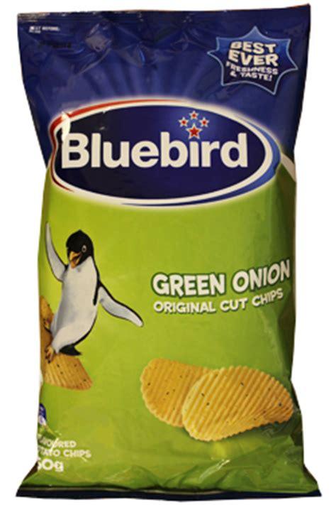 bluebird green onion chips chips from new zealand