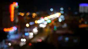 Night City Lights And Traffic Background. Out Of Focus ...