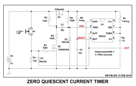 Mosfet Ultra Low Power Timer Circuit Electrical