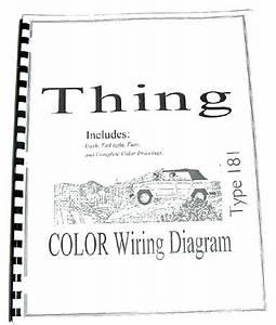 volkswagen thing type 181 color wiring diagram booklet With vw thing vw type 3 wiring diagram vw beetle speedometer wiring diagram