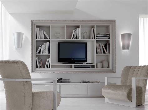 tv wall cabinet wall mounted wooden tv cabinet with shelves greta by cortezari