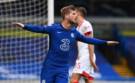 Chelsea striker timo werner controls the ball watched by. Chelsea new boys open Premier League accounts in style as ...